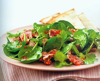 Chili Beef Salad with Cilantro Recipe